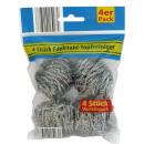 Großhandel Reinigung: Edelstahl Topfreiniger 4er Pack