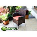 mayorista Muebles de jardin: OSCURO silla con una almohada MK-60