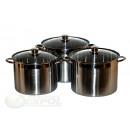 wholesale Houshold & Kitchen: SET 6 PIECES,  Pots, KINGHOFF, KH-4312