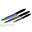 wholesale Knife Sets: 3 ART SET, KNIVES,  TITANIUM, KINGHOFF, KH-3640
