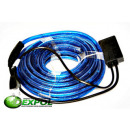Großhandel Lichterketten: LED-Lichter 10M  REGULATOR HOSE BLAU 9261
