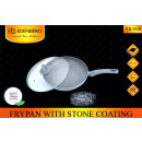 wholesale Pots & Pans: PAN CERAMIC  EB-9119 28 CM GREY Edenberga