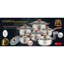 Pots WOOD HANDLES  T-400BRT 12EL Teflon Saucepan