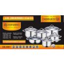 wholesale Pots & Pans: Pots 12 COMPONENTS  INDUCTION Edenberg TEFLON EB-4