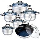 grossiste Maison et cuisine: Pots 12 INDUCTION  PAN MARBRE KINGHOFF 1099