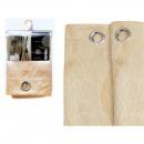Großhandel Vorhänge & Gardinen: CORTINA 140X270  beigen Streifen 6 Ösen