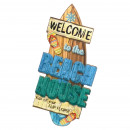 wholesale Garden & DIY store: HANGING WOOD SURF WELCOME ...