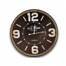 WOODEN WALL CLOCK MODERN BLACK