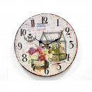 BOTANY WOOD WALL CLOCK WHITE