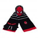 SET HAT SCARF GLOVES Spiderman