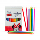 grossiste Stylos et crayons: BOX 18 CRAYONS COULEUR Minnie