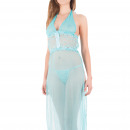 wholesale Nightwear: Lingerie - Nightgown Blue Garda
