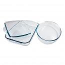 groothandel Magnetron & ovens: Set van drie  bakvormen GEHARD GLAS