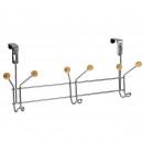 wholesale Electrical Installation: 6 hooks PATERA CHROME WOOD