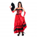 grossiste Fournitures de bureau equipement magasin: Costumes - Can Can Costume rouge