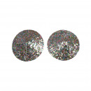ingrosso Beads & Charms: Shiny Silver Spangle Pezoneras