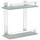 Kitchen - SHELF 2 LEVELS OF ALUMINIUM AND GLASS TA