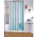 POLYESTER SHOWER CURTAIN 180 X 200 CM BLUE