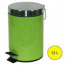 Kitchen - Groene metalen pedaalemmer 12L