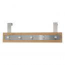 wholesale Laundry: Kitchen - HANGER  with 5 hooks BAMBOO AND STEEL INO