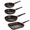 Kitchen - Set pans  Bergner Ø20, 24, and 28 cm.