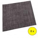 groothandel Tafellinnen: KEUKEN - Set van 6 placemats Dark Grey