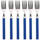 KÜCHE - SET 6 -Edelstahl Filterhalter blau
