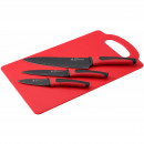wholesale Knife Sets: KITCHEN - SET 3  KNIVES AND STEEL CUTTING TABLE