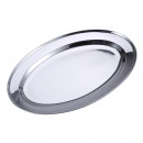 KITCHEN - TRAY OVAL 35 cm. STAINLESS STEEL RENB