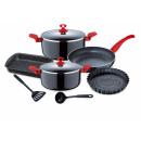 grossiste Batteries et piles: Cuisine - Renberg  - 9P RED COOKWARE Argin