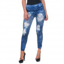 wholesale Trousers: Women's  Clothing - Painted Blue Legging