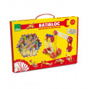 wholesale Wooden Toys: construction set  100 wooden pieces - batibloc