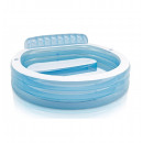 wholesale Garden playground equipment: inflatable pool  with aqua bench - l 224 xl 216 x