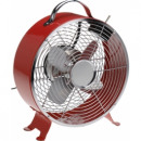 grossiste Climatiseurs et ventilateurs: ventilateur  vintage de table - 2 vitesses - rouge