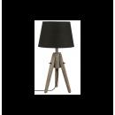 grossiste Lampes: lampe bois  abats-jour - cone miry - h 46 cm