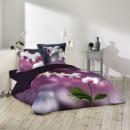 parure de lit 3 pièces - orchidée - 240 x 220 cm -