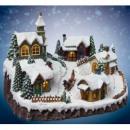 helles Dekor - Weihnachten - Häuser und die Kirche