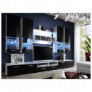 grossiste Maison et habitat: ensemble tv - 5 éléments - noir