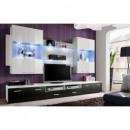 grossiste Maison et habitat: ensemble tv - 3  éléments - blanc et noir