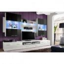 grossiste Maison et habitat: ensemble tv - 3  éléments - noir et blanc