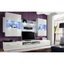 grossiste Maison et habitat: ensemble tv - 3 éléments - blanc