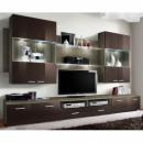 grossiste Maison et habitat: ensemble tv - 3 éléments - marron