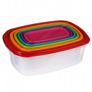 wholesale Microwave & Baking Oven: set of 6 square boxes - multicolored