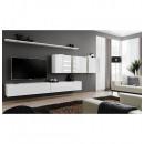 grossiste Maison et habitat: ensemble tv mural - 5 éléments - blanc
