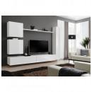 grossiste Maison et habitat: ensemble tv mural - 7 éléments - blanc