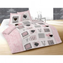 wholesale Bedlinen & Mattresses: duvet set you - 240 x 220 cm - Pink