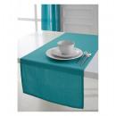 groothandel Home & Living: runner katoen  50x150 cm turquoise - machine