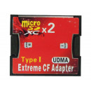CF Card Adapter Type I Extreme voor 2x MicroSD / S