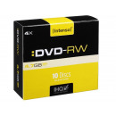 grossiste DVD & Blu-rays / CD: Vitesse Intenso  DVD-RW 4.7 Go 4x - 10pcs Slim Case
