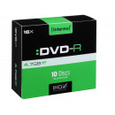 grossiste DVD & Blu-rays / CD: Intenso DVD-R 4,7  Go 16x - 10pcs Slim Case